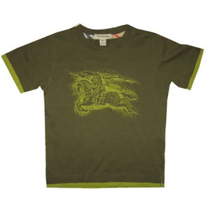 Burberry Green Graphic Tee